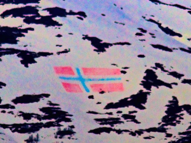 Flagget i sørstrandsfjella